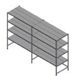Reinforced shelves welded