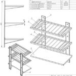Shelf For Table Triple